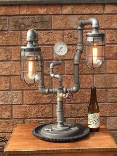 Inspirational Item Industrial Pipe Lamp Black Pipe by LamplighterIronworks