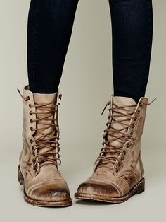 FREEBIRD by Steven Fletch Lace Up Boot at Free People Clothing Boutique in Natural: