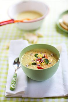 Corn and Celery Soup  (plus it's worth it just to look at the photographs on this blog)