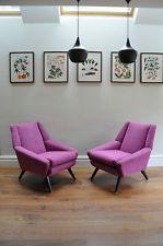 Pair of Vintage Danish Armchairs Retro 50s 60s 70s