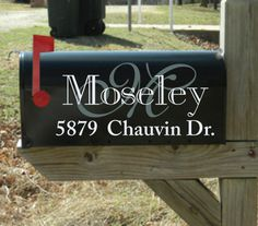 "Personalized Mailbox Address Pair Decals 2 Color - Indoor/Outdoor Vinyl - 5""x11"" - Car - Truck - Wall - CU1-102 on Etsy, $12.00"