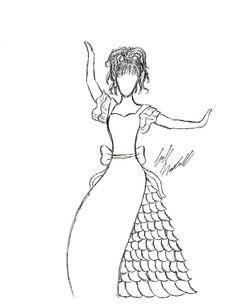 Original Fashion Sketch by ArtsyTatertot on Etsy