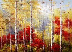 Pintura Moderna al Óleo: Cuadros: paisajes naturales al óleo