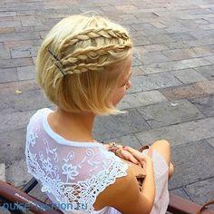 прически с косами на короткие волосы - Поиск в Google