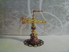 Miniature OOAK Artisan Fancy TELESCOPE Fairy Witch Wizard Dollhouse Magic Mini #FantasyTelescope