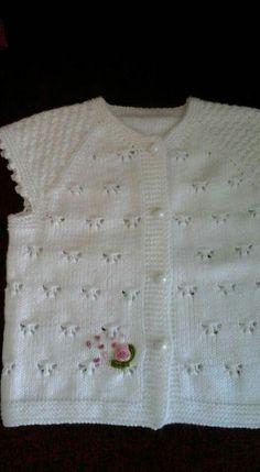 Modern Baby Vest Models – Knitting And We Bind Off Knitting, Knitting For Kids, Knitting Stitches, Baby Knitting, Crochet Baby Cardigan, Baby Afghan Crochet, Easy Knitting Patterns, Baby Patterns, Knit Picks