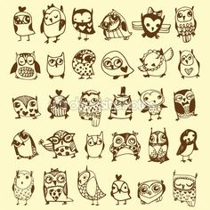 owl doodles - Google Search