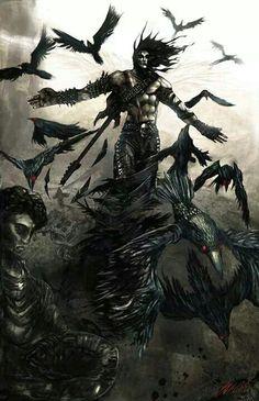 The Crow art-gaming-comics-film Fantasy Anime, Dark Fantasy Art, Fantasy Artwork, Fantasy World, Dark Art, The Crow, Corvo Tattoo, Crow Movie, Foto Madrid