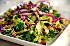 salatka z brolkulami Seaweed Salad, Sprouts, Cabbage, Salads, Vegetables, Ethnic Recipes, Food, Food Food, Essen