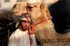 - the man & his camel no one can be as good as Omar:)