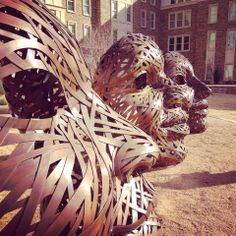 Lubbock is filled with extraordinary places and faces. Texas Tech, Art Programs, Public Art, Art Pieces, Lion Sculpture, Faces, Statue, United States, Explore