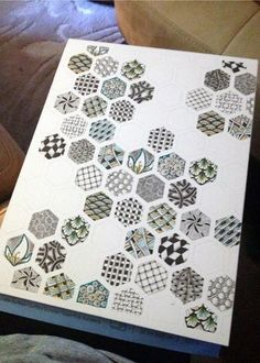 Zentangle Hexagons - Gwen Lafleur  -could possible do this altered with the shapes on the page but the kids use different patterns or color schemes to decorate each shape..