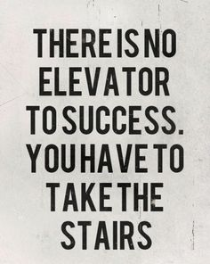 TODAY: Skip the elevator, take the stairs.