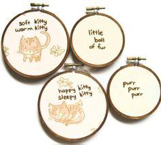 Soft Kitty Song Hand Embroidery Hoop Art, maybe? Embroidery Hoop Decor, Hand Embroidery, Nursery Ideas, Nursery Decor, Soft Kitty Warm Kitty, Jeremiah 1, Sleepy Cat, Fun Gifts, Nerd Geek