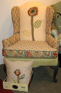 fresh take on a classic wing back chair... traditional to funky!