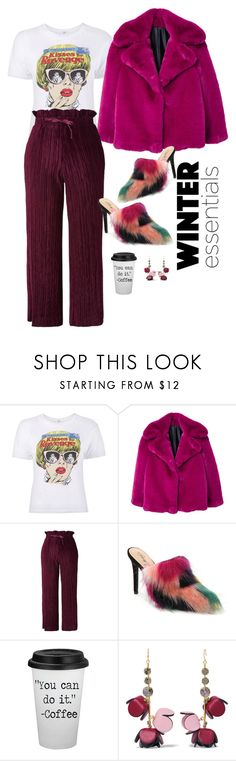 """""""Stop, I'm blushing!"""" by cerisejasmine ❤ liked on Polyvore featuring MANGO, Topshop, Penny Loves Kenny and Marni"""