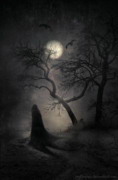 Halloween, Autumn, and all things creepy and macabre. Dark Fantasy, Fantasy Kunst, Fantasy Art, Art Noir, Arte Horror, Nocturne, Halloween Art, Halloween Night, Belle Photo