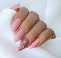 Chic Pink Easter Nails nails 61 Easy and Simple Easter Nail Art Designs Easter Nail Designs, Easter Nail Art, Fall Nail Designs, Polish Easter, Unhas Monster Energy, Spring Nails, Summer Nails, Cute Nails, Pretty Nails