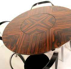 Merrow Associates rosewood table with Cassina Revers chairs - from Hayloft Mid Century, UK. www.midcenturyhome.co.uk