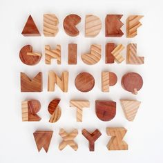 Awesome Alphabet Blocks- at $76, I would shadow-box these in a kids room, not give them to Junior to chew on.