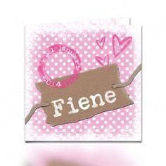 Geboortekaartje Fiene (incl. envelop) www.popsjesenco.com