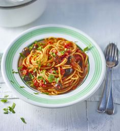 This budget vegetarian take on classic Italian puttanesca sauce is a store-cupboard saviour
