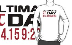 Pi Day 2015 'Ultimate Pi Day 3.14.15 9:26:53' Collector's Edition T-Shirt and Gifts by Albany Retro