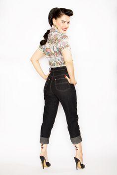 Bernie Dexter Clothing, moda rockabilly con glamour pin up Rockabilly Outfits, Rockabilly Fashion, Rockabilly Style, Rockabilly Girls, Rockabilly Clothing, Psychobilly Style, Fifties Fashion, Retro Fashion, Vintage Fashion