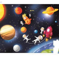 january 2017 7 janod giant space puzzle one size Puzzles, Best Toddler Toys, Space Drawings, Floor Puzzle, Toys Shop, Paper Plates, Outer Space, Educational Toys, Cool Toys