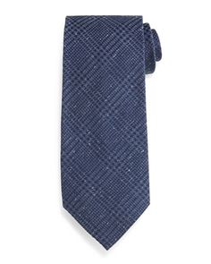 Houndstooth Plaid Tie, Blue by TOM FORD at Neiman Marcus.
