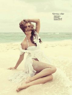 El blanco que favorece | Yana Karpova | Ohnur #photography | Glamour Spain July 2012
