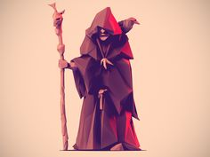 Dribbble - Low Poly Viking Seer by Jona Dinges
