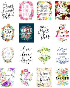 This Printable Planner Stickers, Erin Condren Vertical Planner Printable Stickers, Planner Supplies, Printable Planner Quotes is just one of the custom, handmade pieces you'll find in our stickers shops. Bloom Planner, To Do Planner, Happy Planner, Free Planner, Sticker Printable, Printable Planner Stickers, Free Printable Quotes, Free Printables, Floral Printables