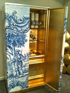 Boca do Lobo's spectacular Heritage cabinet. Limited edition piece represents the Portuguese artistic craftsmanship.