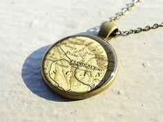 Florence map necklace pendantsFirenze map jewelry by resincherry, $11.95