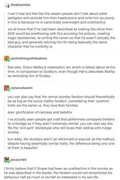 Harry Potter, hp, Draco Malfoy, narcissa Malfoy, Lucius Malfoy, Severus snape, Dudley dursley, Vernon dursley, Peter pettigrew, Bellatrix lestrange, Dolores umbridge