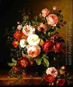 Still life with flowers Melanie de Comolera | Oil Painting Reproduction | 1st-Art-Gallery.com