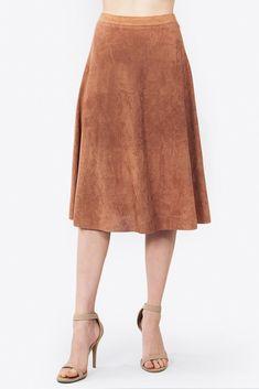 Alamode Suede Skirt