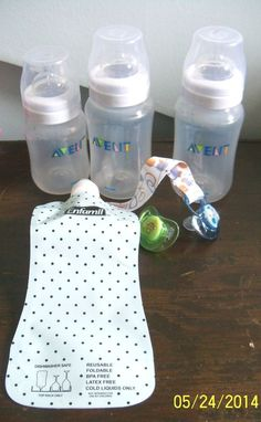 LOT Baby Items Avent Bottles Enfamil Liquid Pouch Nuby Pacifiers Clip AB Penny Auctions, Pacifiers, Baby Bottles, Clip, Latex Free, Baby Love, Baby Items, Pouch, Ebay