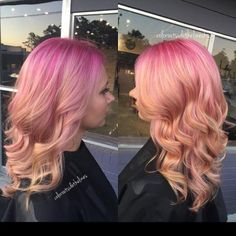 Amber Mahaffey, ( of Color Outside The Lines Hair Studio, Surfside Beach, South Carolina, shares the formula for this lovely root shadow pink melt:Step Pre-lighten with Redken Flash Lift and 20 volume . Rose Hair, Pink Hair, Pravana Purple Shampoo, Magenta, Short Blonde Pixie, Hair Studio, Rainbow Hair, Cool Hair Color, Messy Hairstyles