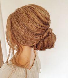 Sleek low bun. #bun #hairupideas #lowbun #bridetobe #chignon #hairup #essex #engaged Bridal Hair Up, Bridal Updo, Date Hairstyles, Wedding Hairstyles, Low Buns, Bun Bun, About Hair, Bridesmaid Hair, Cut And Color