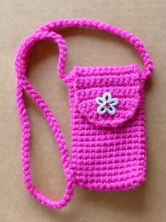 Crocheted Cell Phone Ipod  Camera case/ by DonnasCrochetCabin, $14.99