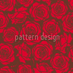 Rose Blossoms Red by Viktoryia Yakubouskaya available for download as a vector file on patterndesigns.com