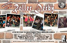 Crossroads City Derby Sucias vs Resurrection Roller Girls 'Cinderrollas' of Rohnert Park, California (Sonoma County) This is also Crossroads City Derby Alumni Night! We hope to see lots of our past members in their derby jerseys!  October 11th at the track behind Meerscheidt Rec Center - 1600 E. Hadley, Las Cruces, NM 88001 Gate opens at 6:00 PM  Game starts at 7:00 PM  Tickets are $10 at the gate or $8 in advance.