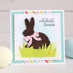 For the Love of Paper: chocolate Easter bunny