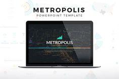 Metropolis Powerpoint Template by SlidePro on @creativemarket