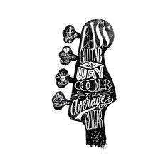 Bass Guitar Is Way Cooler by Fran Efless, via Behance