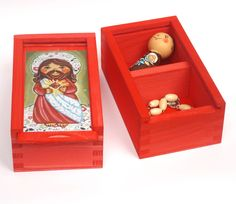 Sacred Heart of Jesus Christ Saviour wood jewelry prayer card rosary box print 1st first holy communion baptism favor gift keepsake heirloom  souvenir keepsake ornament decoration girls boy child gift christening baptism birthday birth gift 1st communion gift Catholic Christian personalized favor custom favour favor party favour favor Our Lord God immaculate heart red jewellery box