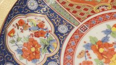 Vintage Asian Decorative Plate in Orange and by YourKingsRansom