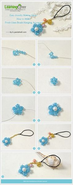 Easy #JewelryMaking Ideas--How to Make Fresh #GlassBeads #HangingAccessory from #Beebeecraft.com